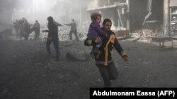 این تصویر از غوطه شرقی در ۳۰ بهمن ماه منتشر شدهاست