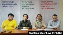Кандидаттар тізіміне ілінбей қалған азаматтар. Астана, 10 наурыз 2016 жыл.
