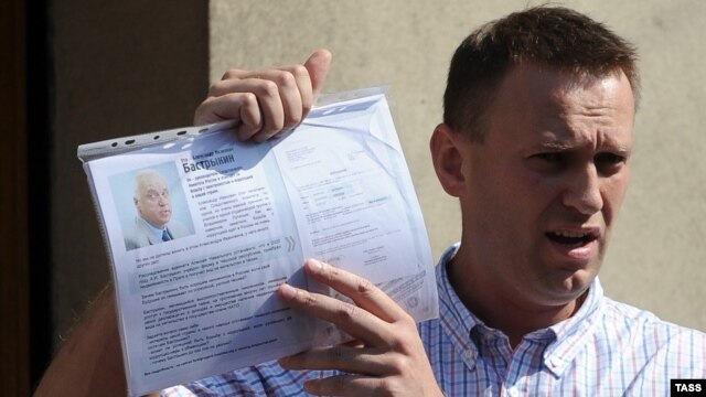 Opposition blogger Aleksei Navalny won the most support in an unprecedented online poll.
