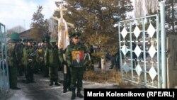 Александр Барыкинди акыркы сапарга узатуу. Каракол, 26-январь, 2014.