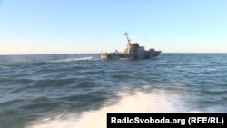 Корабль украинских сил морской охраны в Азовском море