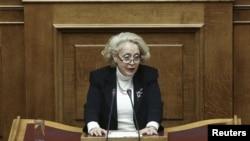 Грчката премиерка, Василаку Тану.