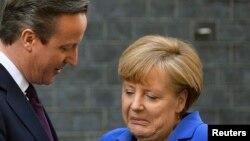 Дейвід Камерон і Анґела Меркель під час зустрічі в Лондоні, 27 лютого 2014 року