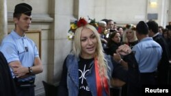 Активістка Інна Шевченко у французькому суді