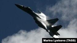 Расейскі зьнішчальнік Су-35, які, паводле заявы эстонскіх уладаў, парушыў паветраную прастору краіны