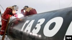 Работы по созданию северного трубопровода, который пройдет по дну Балтийского моря