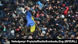 Столкновения между сторонниками России и Украины в Симферополе. 26 февраля 2014 года.