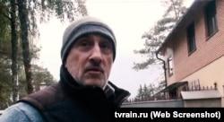 """Леонид Садов, кадр из сюжета телеканала """"Дождь"""""""