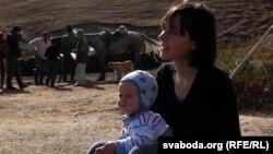 Кацярына Кібальчыч падчас здыманьня фільму «Кроў з малаком» у Кіргізстане