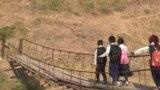 Tajik bridge grab