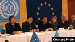 Участники центрально-азиатской конференции по миграции.