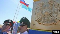 На казахстанско-российской границе.