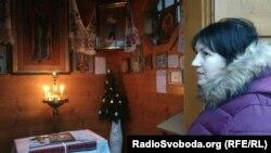 Валентина Бучок у часовни в Феофании