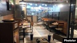 Первый этаж пункта быстрого питания Burger King после взрыва