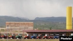 Armenia - Agricultural tractors belonging to the Multi Group company of Prosperous Armenia Party leader Gagik Tsarukian.