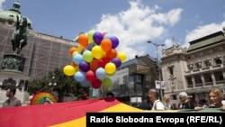 Mini Parada ponosa održana u Beogradu na Međunarodni dan ponosa, 27. jun 2012. Foto: Saša Čolić
