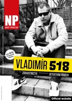 Обложка журнала, который продают на улицах пражские бездомные. На ней изображен один из продавцов - Владимир, имеющий лицензию номер 518