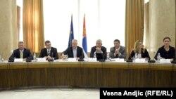 Sastanak ministra privrede Mlađana Dinkića sa izvoznicima, 23. avgust 2012.