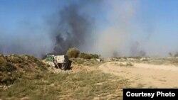 """قوات الأمن العراقية تقصف مواقع مسلحي """"داعش"""" في الفلوجة"""