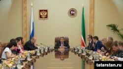 Татарстанның хәзерге президенты Рөстәм Миңнеханов 2014 елга нәтиҗә ясый