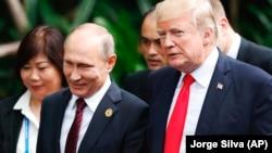 На снимке: встреча лидеров России и США в Дананге, Вьетнам, 11 ноября 2017