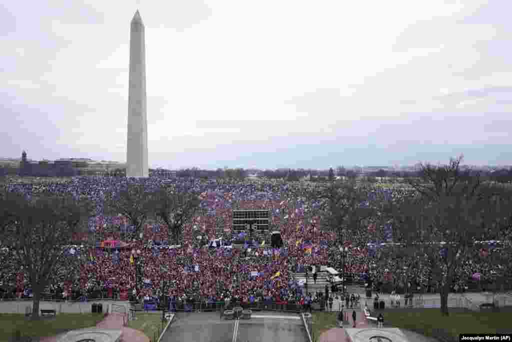 People attend a rally in support of President Donald Trump on Wednesday, Jan. 6, 2021, in Washington.