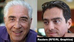 Iranian-American businessman Siamak Namazi (right) and his father Baquer Namazi (file photo)