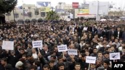 مشهد من مظاهرات السليمانية