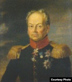 Portret al generalului-locotenent Ivan Nikitici Insoff (1768-1845), guvernator al Basarabiei (Foto în vol. François-David Noir, Journal de voyage)