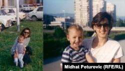 Luka Bilandžić sa majkom prije rata