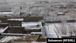 Pamje e një pjese të Kabulit të mbuluar me borë