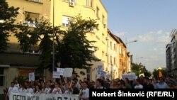 Protest za podršku novinarima