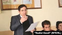 Выступление таджикского адвоката Бузургмехра Ёрова.