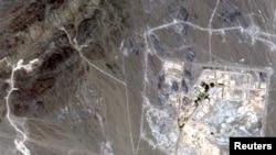 نمای ماهواره ای از تاسیسات غنی سازی نطنز در ایران