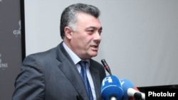 Armenia -- Deputy Head of Heritage party Ruben Hakobian at the conference of oppositional political forces held in Yerevan, 20Jan2012