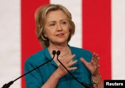 Candidata democrată Hillary Clinton vorbind despre relațiile americano-cubane la 31 iulie