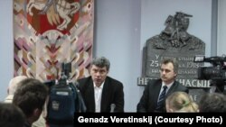 Борис Немцов Минск шаарында. Беларус. 2013.