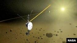 """В 2004 году """"Вояджер"""" пересек границу края Солнечной системы - границу ударной волны, где скорость солнечного ветра замедляется"""