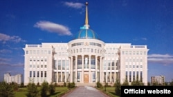 Ақорда - Қазақстан президентінің Астанадағы резиденциясы. Ресми сайттағы сурет.