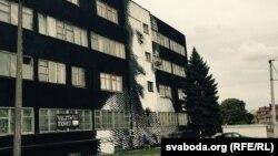 Графіці Чапскага на Кастрычніцкай вуліцы ў Менску