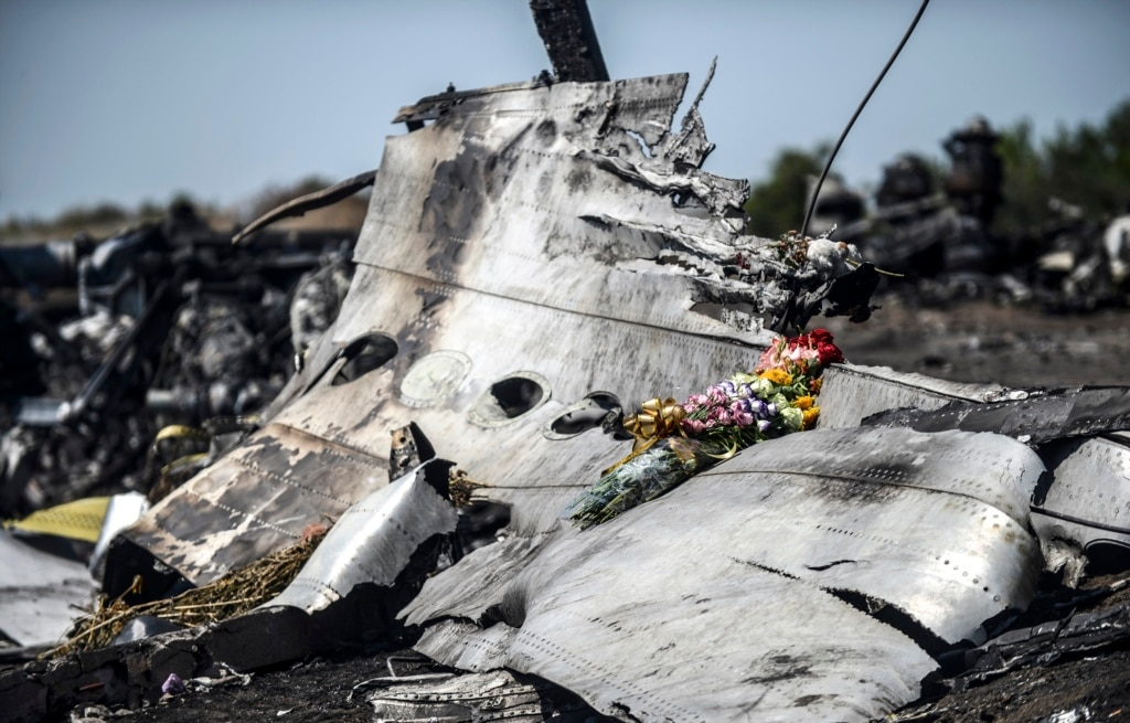 Debris from Malaysia Airlines flight 17 in eastern Ukraine. (AFP)