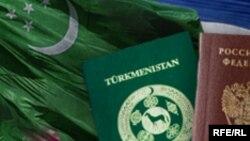 Türkmenistanyň w Orsýetiň pasportlary