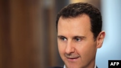 Syria -- Syrian President Bashar al-Assad gave an exclusive interview to AFP in the capital Damascus, February 11, 2016