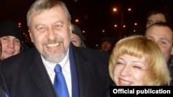 Андрей Санников и Ирина Халип во время президентской кампании в Белоруссии
