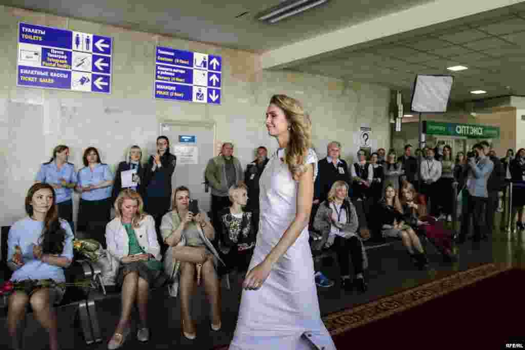 У паказе прыняла ўдзел Міс Беларусі 2008