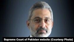 FILE: Pakistan Supreme Court Justice Qazi Faez Isa