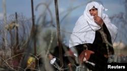 امرأة فلسطينية في غزة