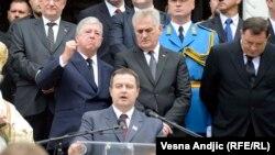 Ivica Dačić na sahrani Karađorđevića na Oplencu, 26. maj 2013.