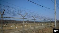 Граница между Северной Кореей и Южной Кореей.