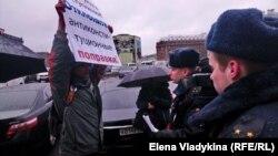 Пикеты против поправок в Конституцию. Петербург, 12 марта 2020 года